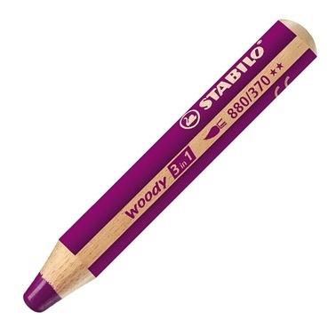 Stabilo  Woody 3 in 1 Yağlı Pastel Boya Kalemi Açık Lila 880-370 Renkli